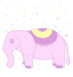 kawaii elephant image design vector image