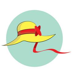 Lady hat 02 vector