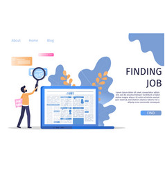 man character finding manager job occupation vector image