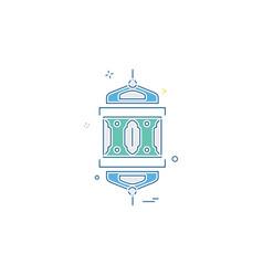 mandala icon design vector image