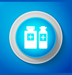 medical bottles icon tablets symbol health care vector image