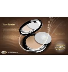 Modern face powder cosmetic vector