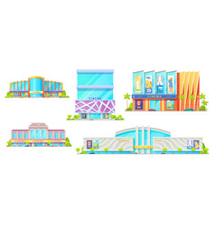 movie theater isolated cinema buildings vector image