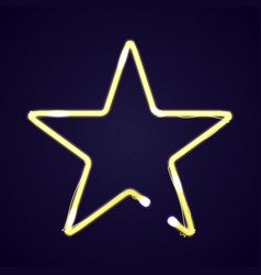 Neon star light vector