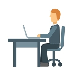 Office worker vector image vector image