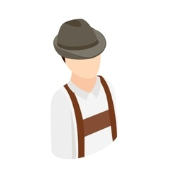 Oktoberfest man isometric 3d icon vector