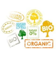 Organic stamps vector