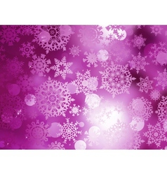 Pink Christmas background with snowflakes EPS 10 vector