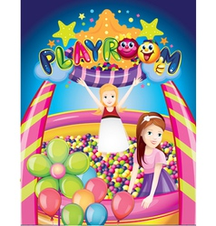 playroom vector image