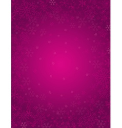 purple background with frame of snowflakes vector image