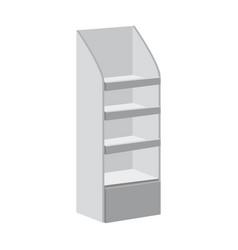 Rack shelves for supermarket floor showcases on a vector