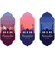 ramadan kareem islamic icon poster banner vector image