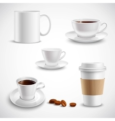 Realistic Coffee Set vector