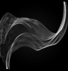 realistic smoke isolated on vector image