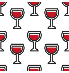 Red wine in glass wineglass montenegrin drink vector