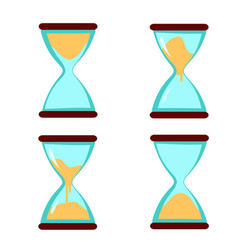 sand clock hourglass vector image