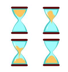 sand clock hourglass vector image