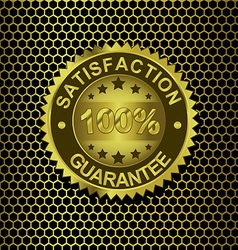 Satisfaction Guarantee on metal background vector
