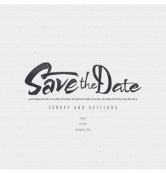 Save date - calligraphic lettering badge label vector