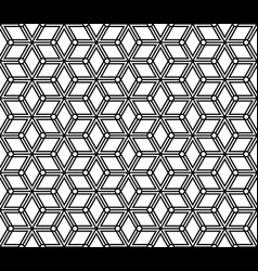 Seamless abstract pattern based on kumiko ornament vector