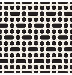 Seamless black and white rounded geometric vector