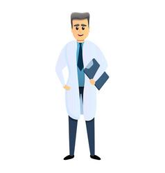 Senior man doctor icon cartoon style vector