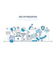 Seo optimization methods and tools analysis vector