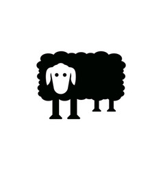 sheep icon design template isolated vector image