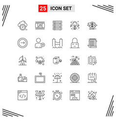 Stock icon pack 25 line signs and symbols for vector
