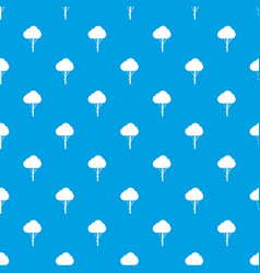 tree pattern seamless blue vector image