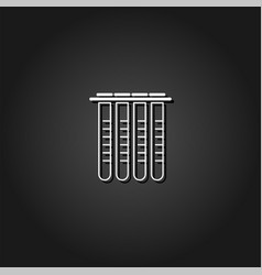 tubes icon flat vector image