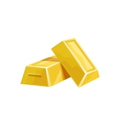 Two Golden Bars Hidden Treasure And Riches For vector