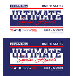 ultimate denim urban t-shirt and apparel design vector image