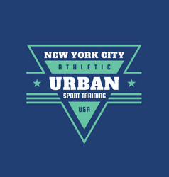urban sport training athletic usa - typography vector image