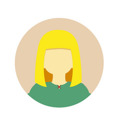 Young girl long blonde hair people graphic vector