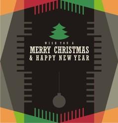 Christmas card design concept vector image