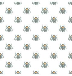 garden beetle bug pattern seamless vector image