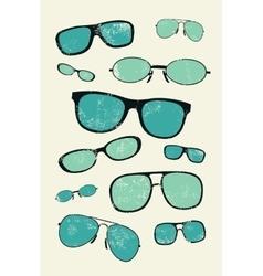 Vintage glasses grunge style poster vector image vector image