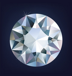 a shiny bright diamond vector image vector image