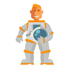 Astronaut in space suit with helmet mask isolated vector