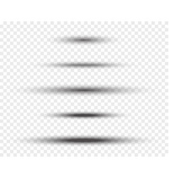 oval shadows vector image