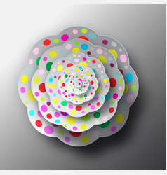 paper cut flower top view abstract shape vector image vector image