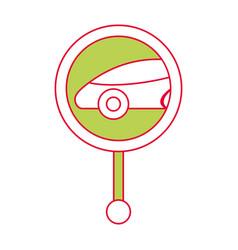 gps navigation pointer map car location vector image vector image