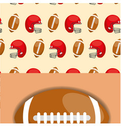 american football helmet ball sport competition vector image