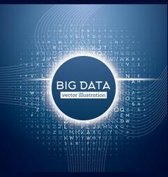 Big Data Blue Technology Background vector image