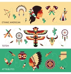 Ethnic design concept banners vector image