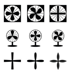 fan icons vector image