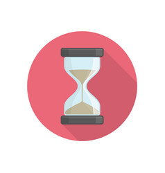 Hourglass icon on red vector
