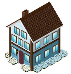 Isometric Tudor Style house vector image vector image
