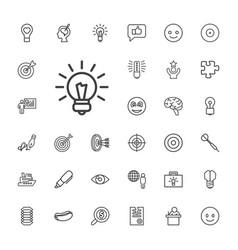 33 idea icons vector